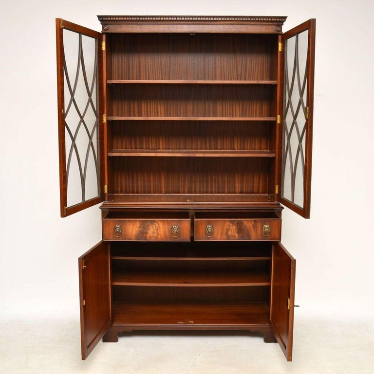 Antique Georgian Style Mahogany Bookcase For Sale At 1stdibs