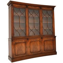 Antique Georgian Style Mahogany Concave Bookcase