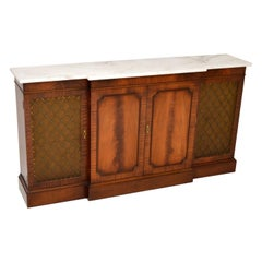 Antique Georgian Style Mahogany Marble Top Sideboard