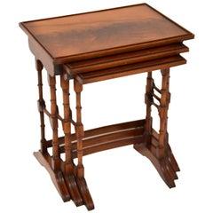 Antique Georgian Style Mahogany Nest of Tables