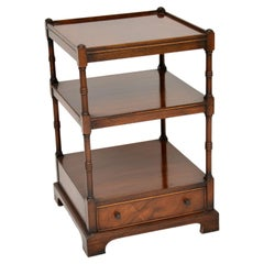 Antique Georgian Style Mahogany Side Table Stand