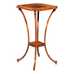 Antique Georgian Style Spider Leg Table in Satinwood