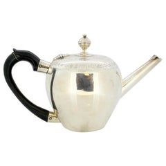 Antique Georgian Teapot, Silver, William Bottle & Jeremiah Wilsher, London, 1799