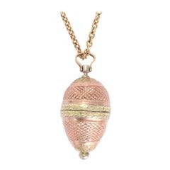 Antique Georgian Two-Tone Gold Egg Locket Pendant