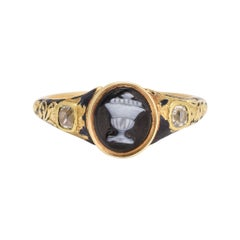 Antique Georgian Urn Cameo Mourning Ring
