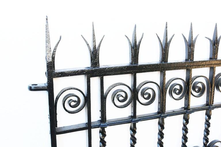 English Antique Georgian Wrought Iron Pedestrian Gate For Sale