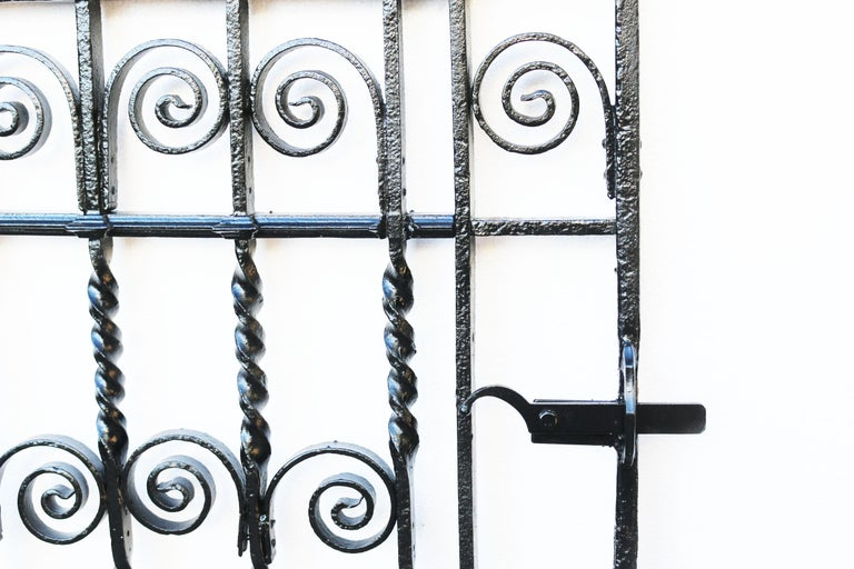 Hand-Crafted Antique Georgian Wrought Iron Pedestrian Gate For Sale