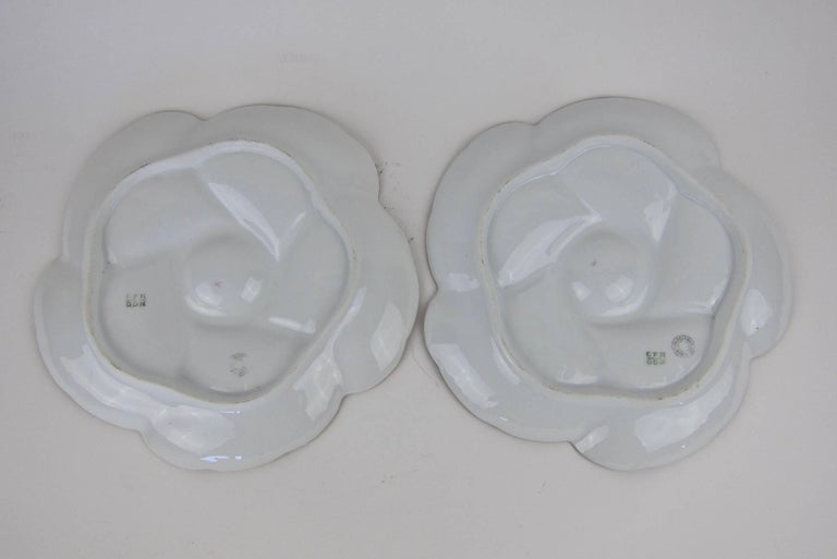 Antique Limoges Porcelain CFH / GDM Oyster Plates, 1880s For Sale 3