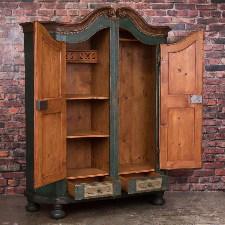 Antique German Armoire with Original Blue Paint For Sale ...