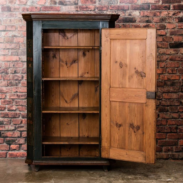 Furniture In Sale: Antique German Armoire With Original Folk Art Paint For