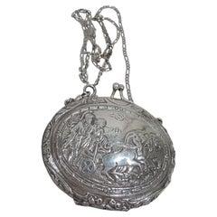 Antique German Classical Silver Coin Purse