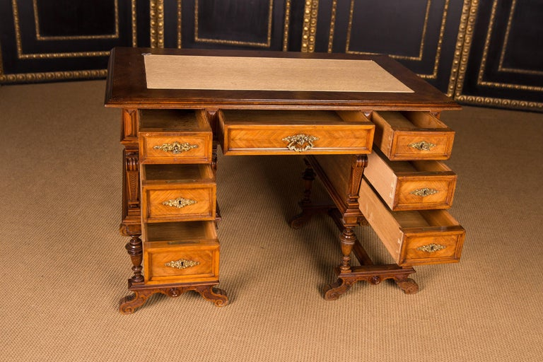Louis Philippe Antique German Gründerzeit Desk, circa 1880 For Sale
