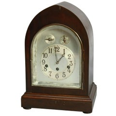Antique German Junghans Mahogany Shelf or Mantel Clock, circa 1920