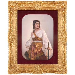 Antique German KPM porcelain panel of Judith with the Head of Holofernes