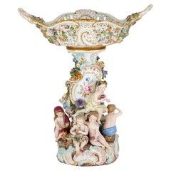Antique German Meissen Porcelain Centrepiece