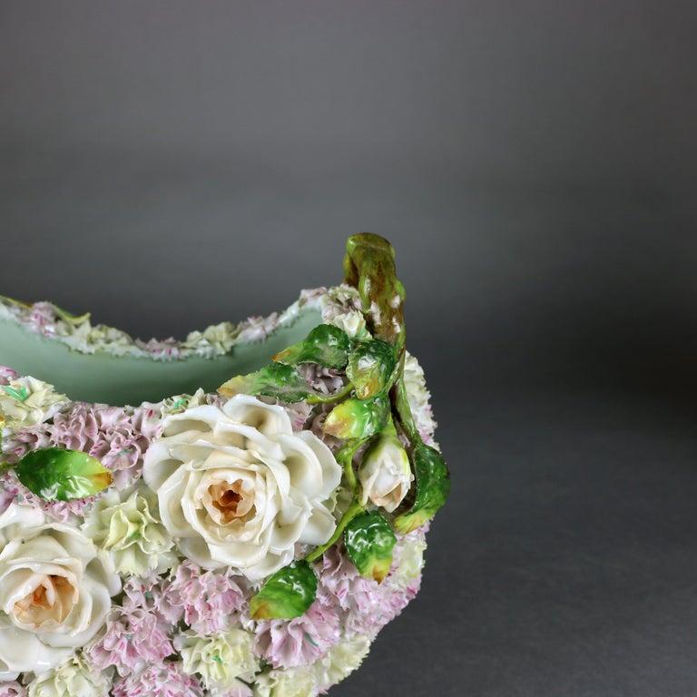 Antique German Meissen School Porcelain Candelabra and Vase Garniture Set For Sale 11