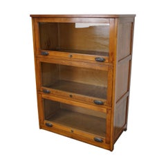 Antique German Oak Bookcase, 1930s