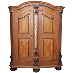 Antique German Painted Armoire