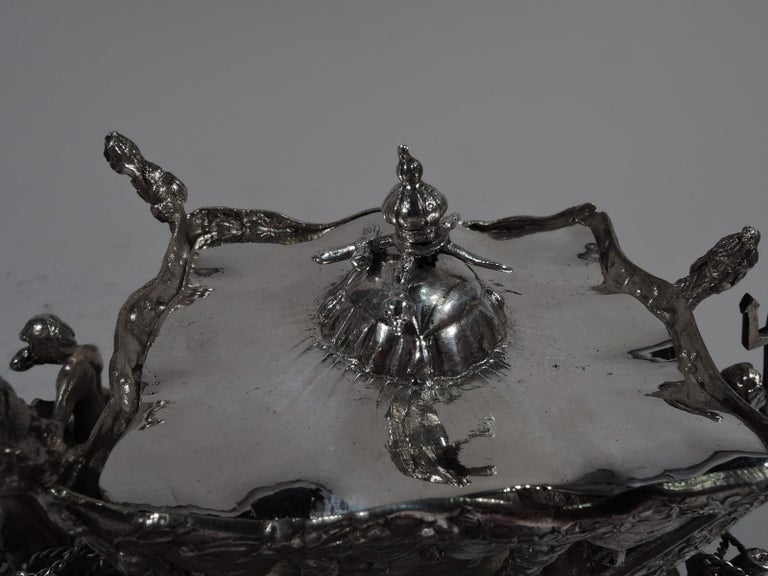 Antique German Rococo Silver Horse-Drawn Cinderella Coach For Sale 2