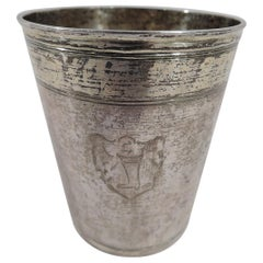 Antique German Silver Beaker with Nurnberg Stamp, 18th Century