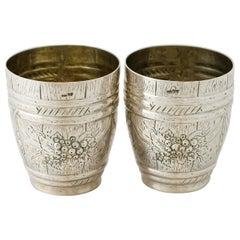 Antique German Silver Beakers