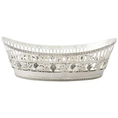 Antique German Silver Bread Dish by Bruckmann & Söhne, circa 1910