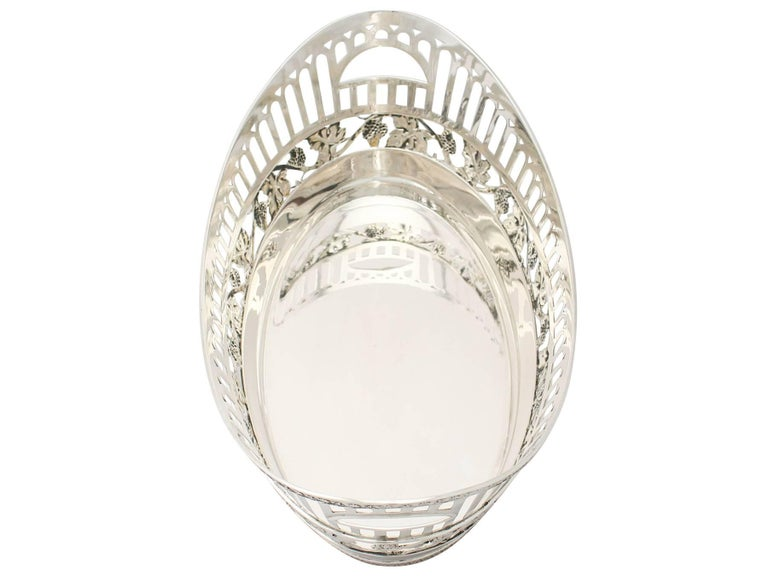 Early 20th Century Antique German Silver Bread Dish by Bruckmann & Söhne, circa 1910 For Sale