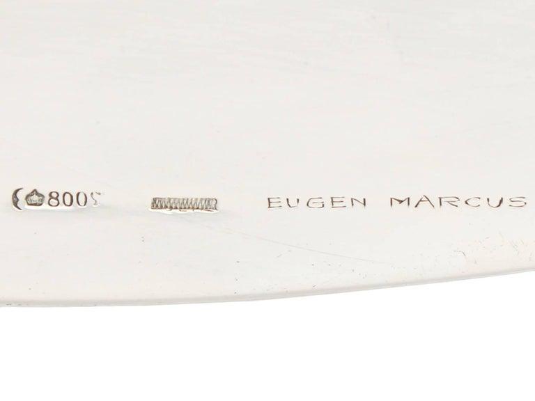 Antique German Silver Bread Dish by Bruckmann & Söhne, circa 1910 For Sale 4