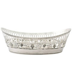 Antique German Silver Bread Dish