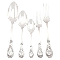Antique German Silver Canteen of Cutlery for Twelve Persons, Circa 1895
