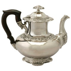 Antique German Silver Coffee Pot, circa 1850
