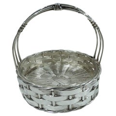 Antique German Silver Country Chic Basket