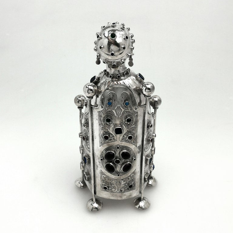 Antique German Silver Figure of Byzantine Style Saint 'Sainte Foy' c 1895 Model For Sale 2