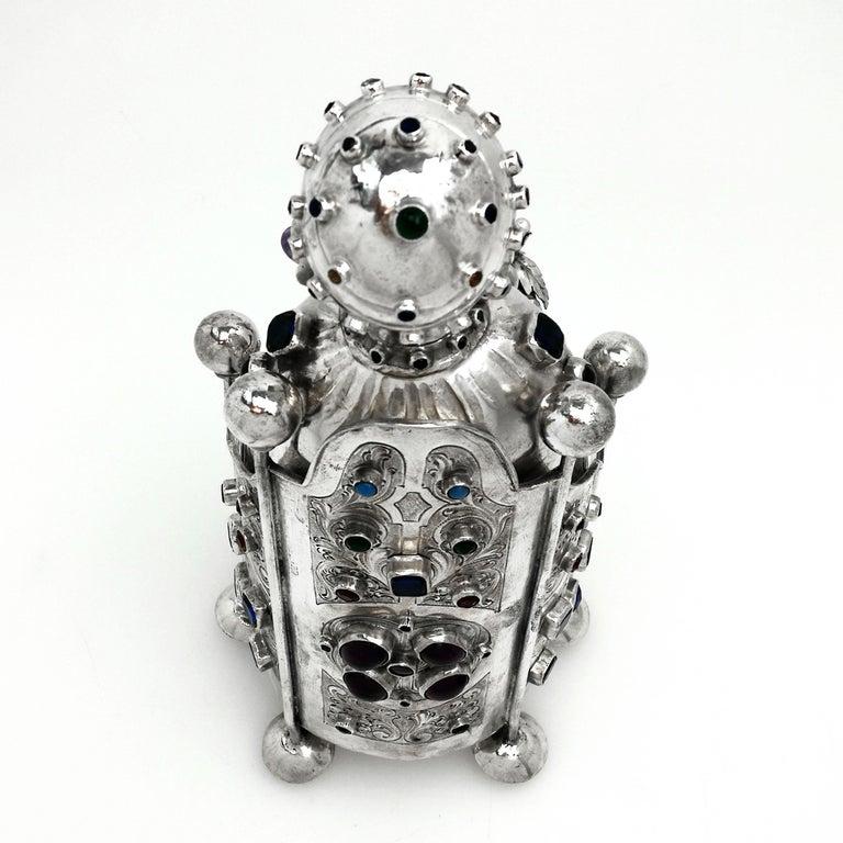 Antique German Silver Figure of Byzantine Style Saint 'Sainte Foy' c 1895 Model For Sale 4