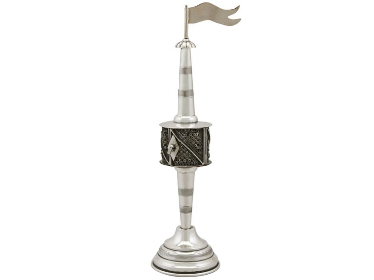 Late 19th Century 1890s Antique German Silver Spice Tower For Sale