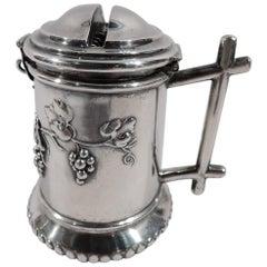 Antique German Silver Tzedakah Charity Box