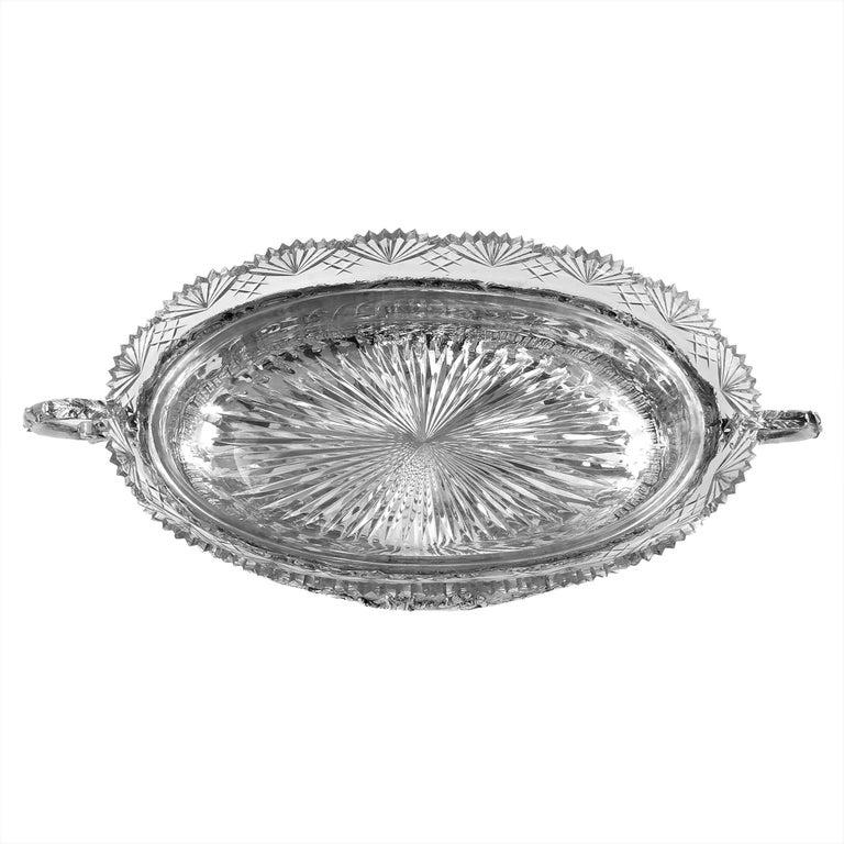 Antique German Solid Silver & Glass Dish / Bowl / Jardinière, c. 1900 For Sale 3