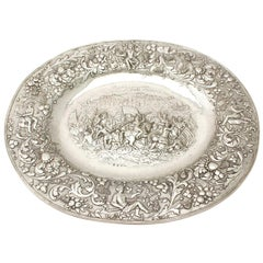 Antique German Sterling Silver Charger Plate