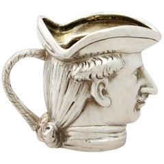 Antique German Sterling Silver Cream Jug / Creamer