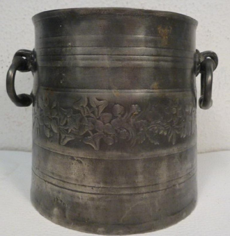 Antique German Tin Cooler Pot 5