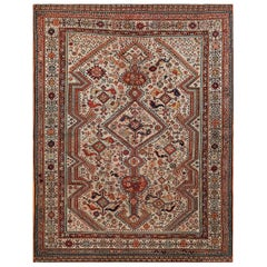 Antique Ghashgaie Persian Tribal Rug