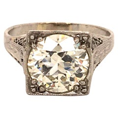 Antique GIA Certified Old Cut Diamond Ring in Platinum