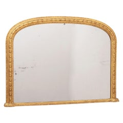 Antique Gilded 19th Century Overmantle wall Mirror