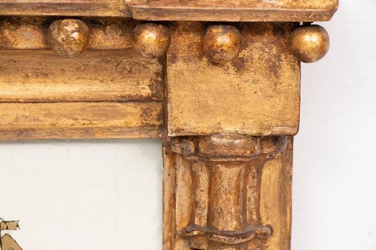 Empire Antique Gilded Nautical Mirror, circa 1800s
