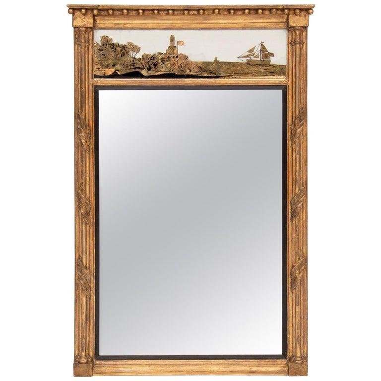 Antique Gilded Nautical Mirror, circa 1800s