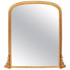 Antique Gilded Overmantel Mirror, circa 1890