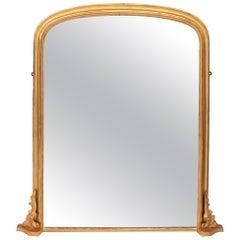 Antique Gilded Overmantel Mirror, circa 1885