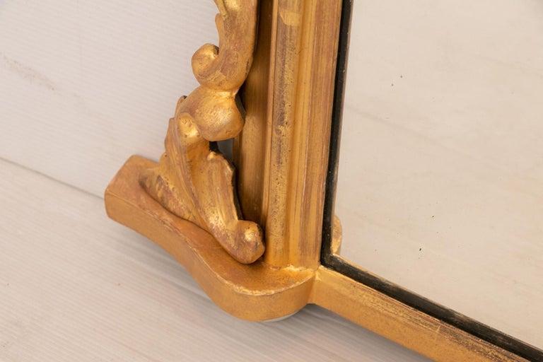 Gilt Antique Gilded Overmantel Mirror, circa 1890 For Sale