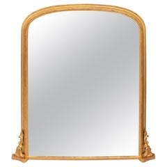 Antique Gilded Overmantel Mirror, circa 1890