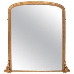 Antique Gilded Overmantel Mirror, circa 1895